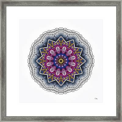 Boho Star Framed Print by Mo T