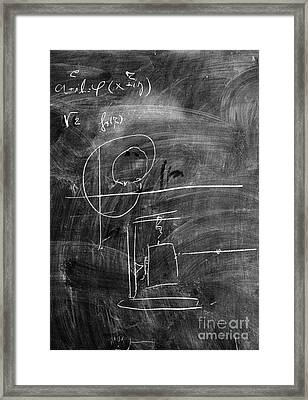 Bohr's Last Blackboard Drawing Framed Print
