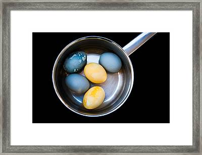 Framed Print featuring the photograph Boiled Eggs by Ari Salmela