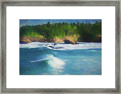 Boiler Bay Blues Framed Print