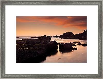 Boiler Bay Sunset Framed Print