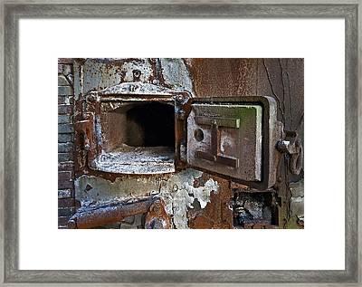 Boiler Door Framed Print by Murray Bloom