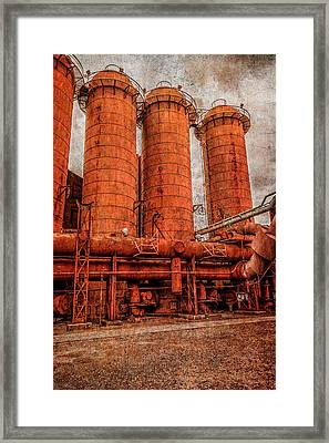 boilers at Sloss Framed Print by Phillip Burrow