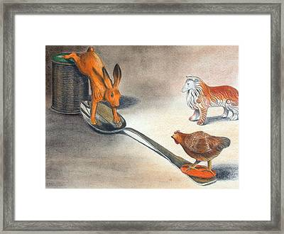 Boinnnnnggggg Framed Print by Sandy Clift