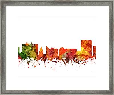 Boise Cityscape 04 Framed Print by Aged Pixel