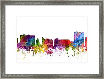 Boise Cityscape 06 Framed Print