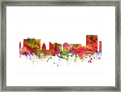 Boise Cityscape 08 Framed Print by Aged Pixel