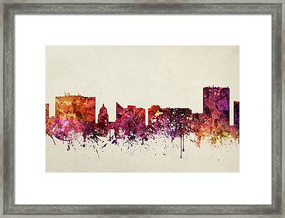 Boise Cityscape 09 Framed Print by Aged Pixel
