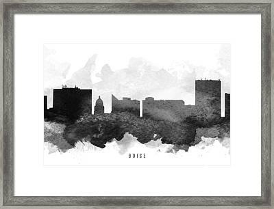 Boise Cityscape 11 Framed Print by Aged Pixel