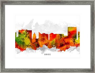 Boise Idaho Cityscape 15 Framed Print by Aged Pixel