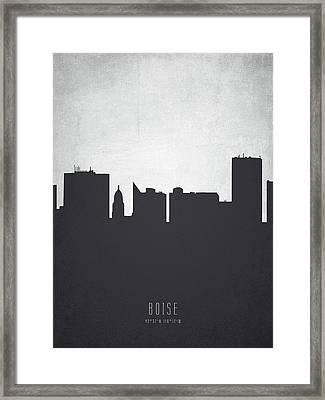 Boise Idaho Cityscape 19 Framed Print by Aged Pixel