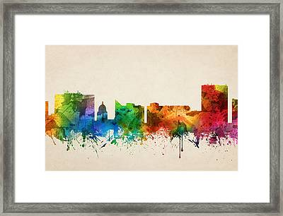 Boise Idaho Skyline 05 Framed Print by Aged Pixel