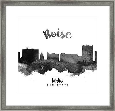 Boise Idaho Skyline 18 Framed Print by Aged Pixel
