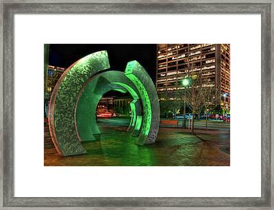 Boise Rings Framed Print