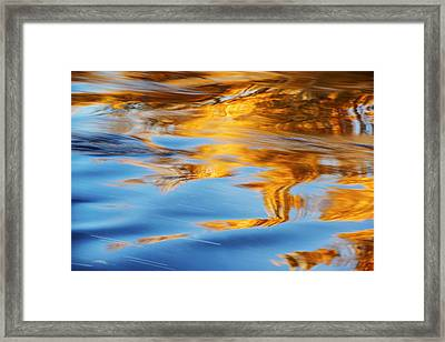 Boise River Autumn Reflection Abstract Framed Print by Vishwanath Bhat