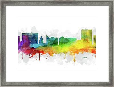 Boise Skyline Mmr-usidbo05 Framed Print by Aged Pixel