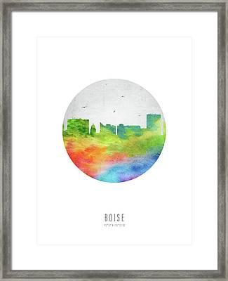Boise Skyline Usidbo20 Framed Print by Aged Pixel