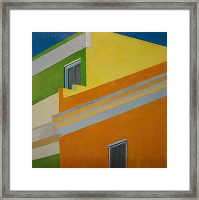 Bokaap Green Framed Print