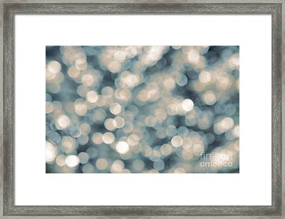 Bokeh Background Framed Print