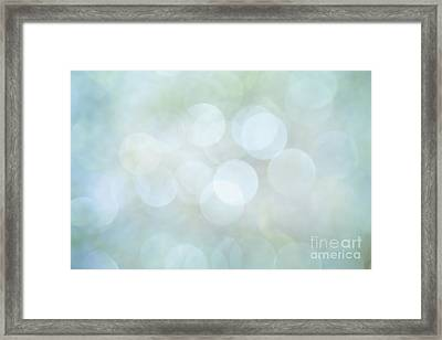Framed Print featuring the photograph Bokeh Clouds by Jan Bickerton