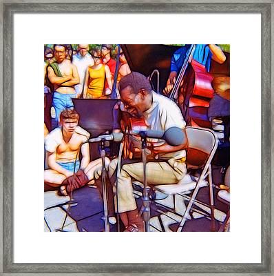 Bola Sete Live At Seward Park Framed Print by Tim Coleman