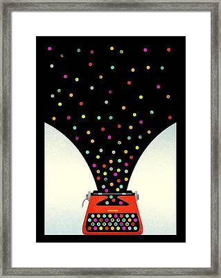 Bold And Graphic Vintage Typewriter Framed Print by Gillham Studios