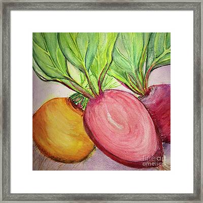 Bold Beets Framed Print by Kim Nelson