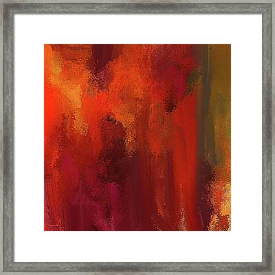 Bold Colors Abstract Art Framed Print by Lourry Legarde