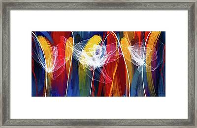 Bold Colors Modern Abstract Art Framed Print by Lourry Legarde