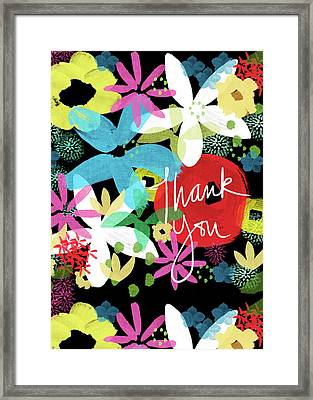 Bold Floral Thank You Card- Design By Linda Woods Framed Print by Linda Woods