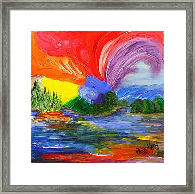 Bold New Day - Or A Trip Around My Palette Framed Print