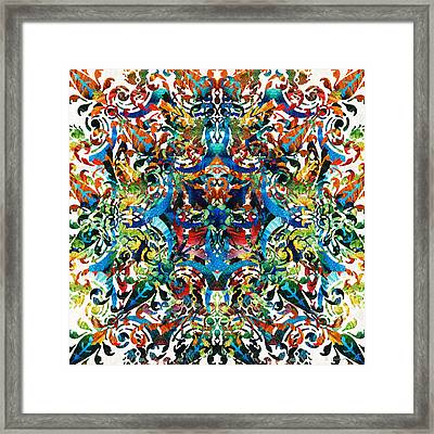 Bold Pattern Art - Color Fusion Design 8 By Sharon Cummings Framed Print