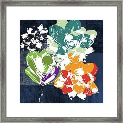 Bold Succulents 1- Art By Linda Woods Framed Print
