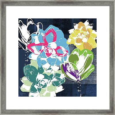Bold Succulents 2- Art By Linda Woods Framed Print
