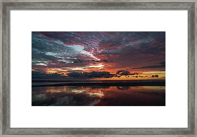 Bold Sunrise Delray Beach Florida Framed Print