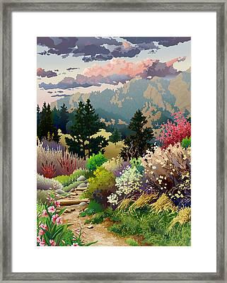 Bolder Boulder 10k Poster 2007 Framed Print by Anne Gifford