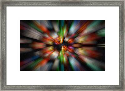 Framed Print featuring the photograph Bolders In Space by Cherie Duran