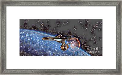 Boldly Going Out There Framed Print by Pd