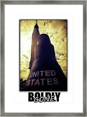 Boldly Gone Murcury Framed Print