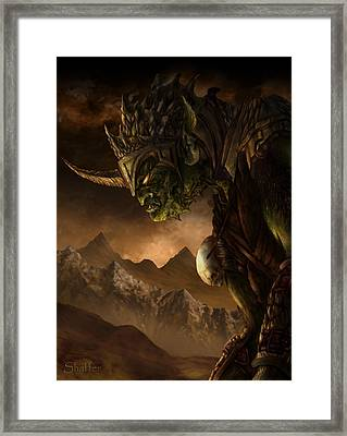 Bolg The Goblin King Framed Print by Curtiss Shaffer