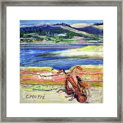 Bolinas Bike Framed Print by Colleen Proppe