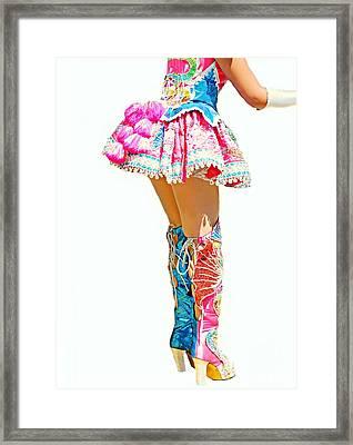 Bolivian Dancer Framed Print by Diana Angstadt