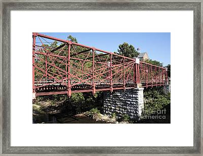 Bollman Truss Bridge At Savage In Maryland Framed Print by William Kuta