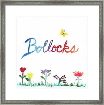 Bollocks Framed Print