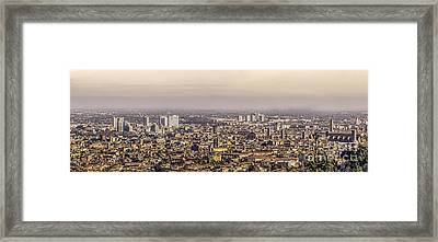 Bologna Aerial View Canvas Framed Print by Luca Lorenzelli