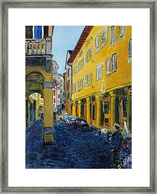Bologna Galeria Framed Print by Joan De Bot