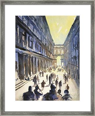 Framed Print featuring the painting Bologna Sunset- Italy by Ryan Fox