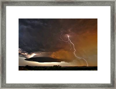 Bolt From The Heavens. Framed Print