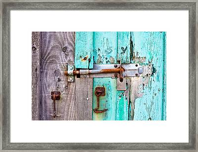 Bolted Door Framed Print by Tom Gowanlock