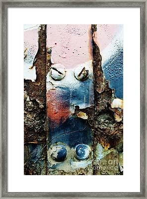 Bolts And Rust Framed Print